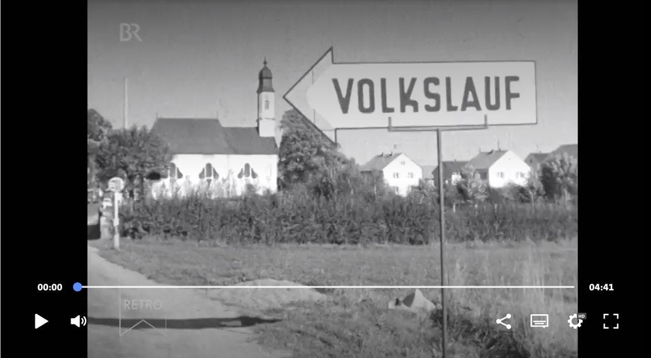 Screenshot BR Retro 1. Volkslauf Bobingen, 1963   ARD Mediathek